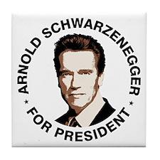 Arnold For President Tile Coaster