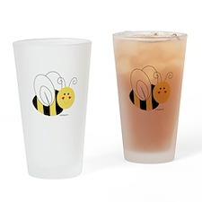 Cute Bee Drinking Glass