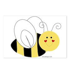 Cute Bee Postcards (Package of 8)
