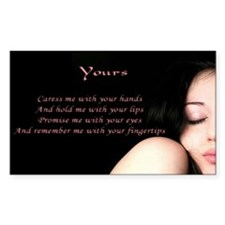 """""""Yours"""" Poetic Rectangle Decal"""