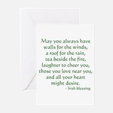 Irish Blessing 1 Greeting Cards (Pk of 10)