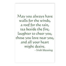 Irish Blessing 1 Postcards (Package of 8)