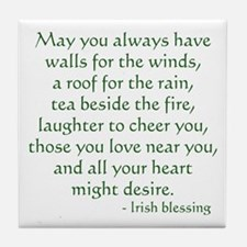 Irish Blessing 1 Tile Coaster