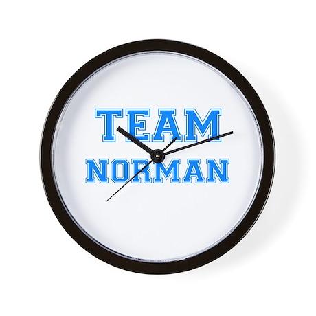 TEAM NORMAN Wall Clock