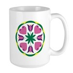 Large Love and Happy Home Hex Mug