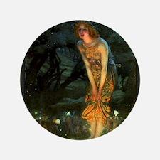 "Fairy Circle Fairies Midsummer Eve 3.5"" Button"