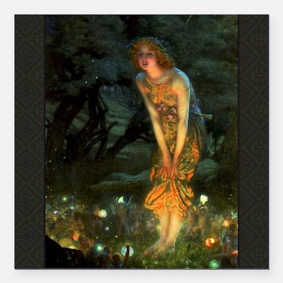 Fairy Circle Fairies Midsummer Eve Square Car Magn