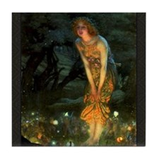 Fairy Circle Fairies Midsummer Eve Tile Coaster
