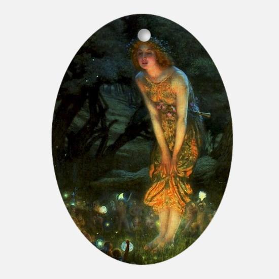 Fairy Circle Fairies Midsummer Eve Ornament (Oval)