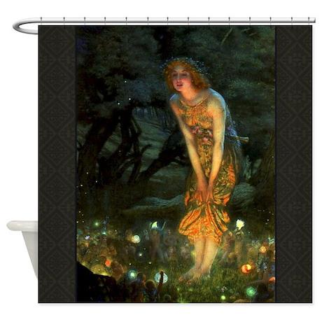 Fairy Circle Fairies Midsummer Eve Shower Curtain