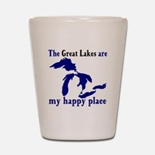 Great Lakes Happy Place Shot Glass
