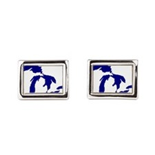 Great Lakes Happy Place Rectangular Cufflinks