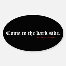 Evil cookies Oval Decal