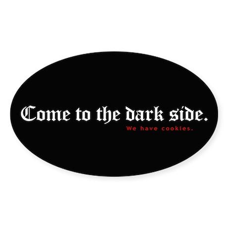 Evil cookies Oval Sticker