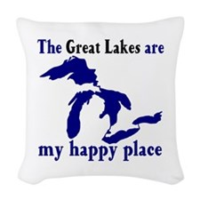 Great Lakes Happy Place Woven Throw Pillow