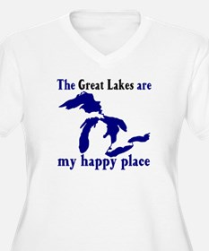 Great Lakes Happy Place Plus Size T-Shirt