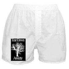 Tear Down Anxiety logo Boxer Shorts