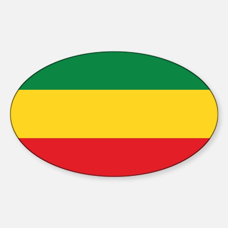 Green, Gold and Red Flag Decal