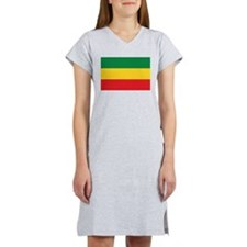Green, Gold and Red Flag Women's Nightshirt