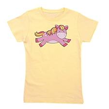 Pink Prancing Pony Girl's Tee
