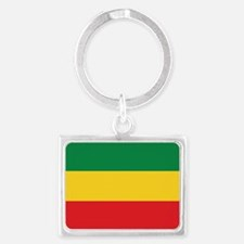 Green, Gold and Red Flag Keychains