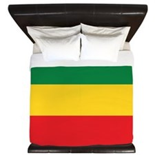 Green, Gold and Red Flag King Duvet