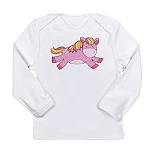Pink Prancing Pony Long Sleeve T-Shirt
