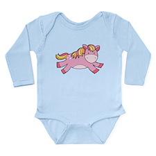 Pink Prancing Pony Body Suit