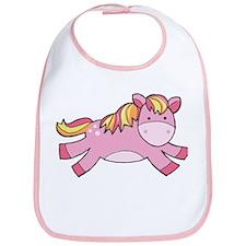 Pink Prancing Pony Bib
