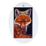 Fox Cub Oval Ornament