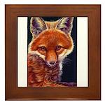 Fox Cub Framed Tile