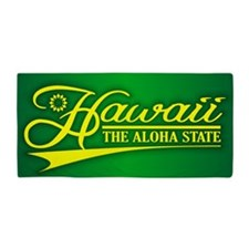 Hawaii State of Mine Beach Towel