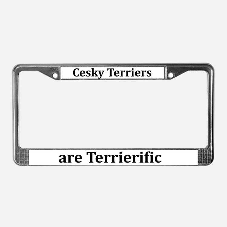 Terrierific Cesky Terriers License Plate Frame