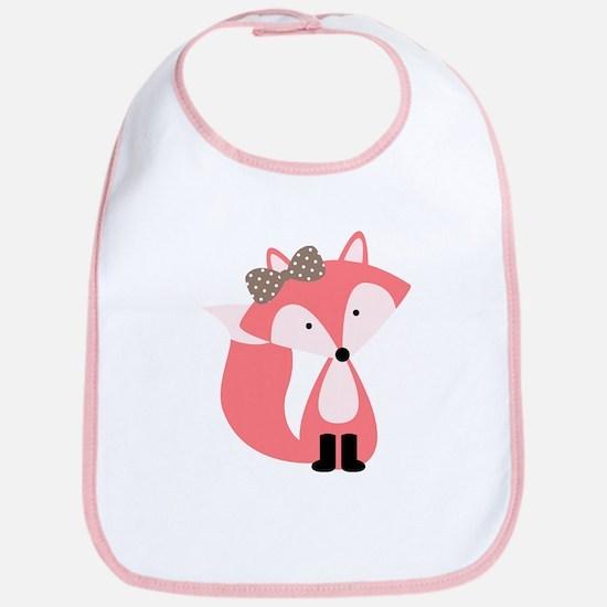 Cute Pink Fox Bib