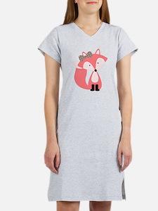 Cute Pink Fox Women's Nightshirt
