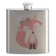 Cute Pink Fox Flask