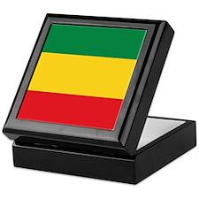 Green, Gold and Red Flag Keepsake Box