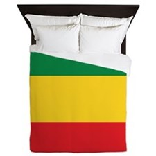 Green, Gold and Red Flag Queen Duvet