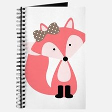 Cute Pink Fox Journal