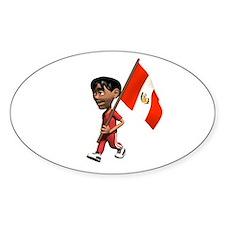 Peru Boy Oval Decal