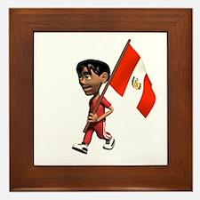 Peru Boy Framed Tile
