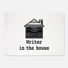 Writer in House 5'x7'Area Rug
