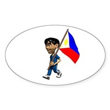 Philippines Boy Oval Decal