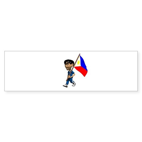 Philippines Boy Bumper Sticker