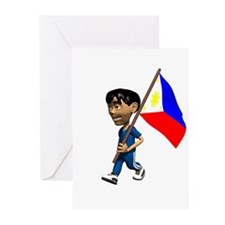 Philippines Boy Greeting Cards (Pk of 10)