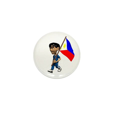 Philippines Boy Mini Button