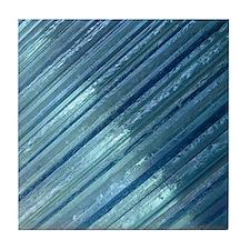 Blue glass coaster
