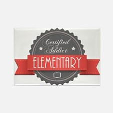 Certified Elementary Addict Rectangle Magnet