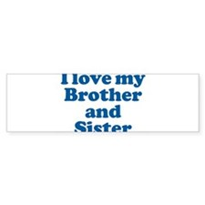 Cute Big brother and little sister Bumper Sticker