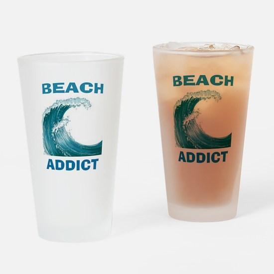 BEACH ADDICT Drinking Glass